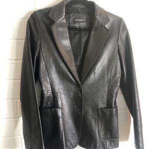 Club Monaco Leather Blazer